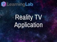 Reality TV Application
