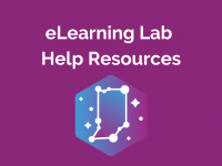 Indiana eLearning Lab Help Resources