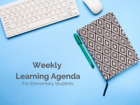 Weekly Learning Agenda | Elementary Template