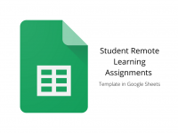 Student Remote Learning Assignments