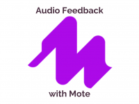 Leave Audio Feedback with Mote