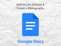 How to Cite Sources and Create a Bibliography in Google Docs