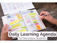 Daily Learning Agenda | Secondary Template