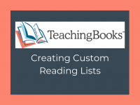 TeachingBooks - Custom Reading Lists