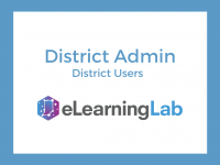 eLearning Lab District Admin: Viewing Users