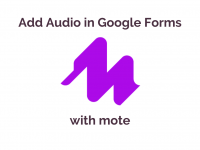 Add Audio in Forms with mote