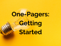 One-Pagers: Getting Started