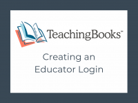 TeachingBooks - Educator Accounts