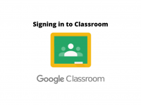 Signing in to Google Classroom