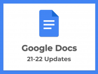 New Features in Google Docs