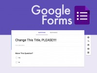 Google Forms: Create a Form & Title