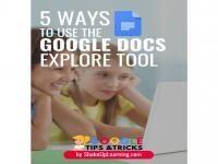 Google Docs Explore Tool- A Blog Post