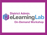 IN eLearning Lab District Admin Overview