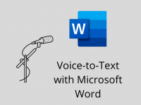 Voice-to-Text with Microsoft Word