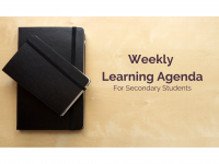 Weekly Learning Agenda | Secondary Template